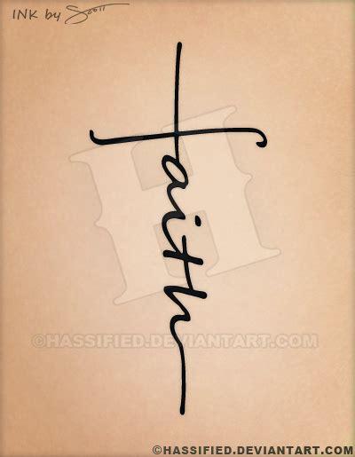 cross and faith tattoos faith cross by hassified on deviantart