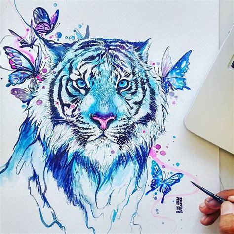 watercolor tattoo jakarta aquarelle zeigen tiere ihrer gef 252 hlvollen seite der