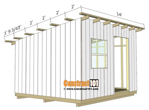 lean  shed plans construct