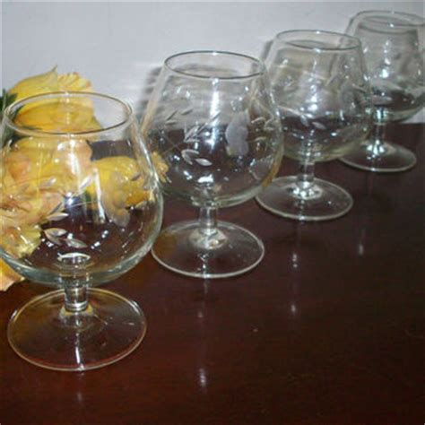 heritage pattern princess house crystal brandy glasses princess house from annetteattic