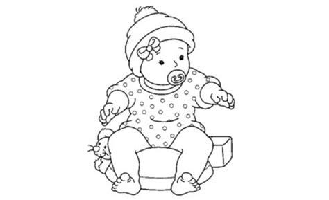 imagenes para colorear bebes bebes para colorear pintar e imprimir