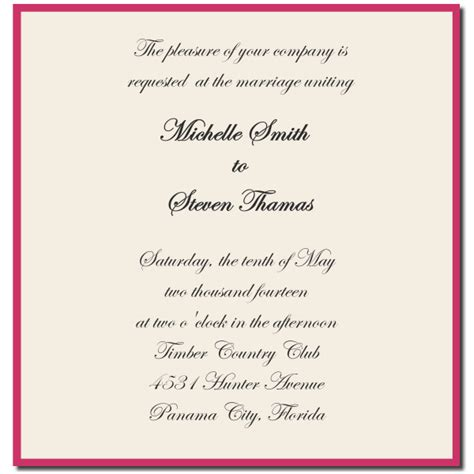 wedding invitation wording ideas template best template collection