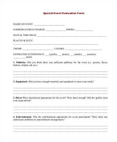 sponsorship evaluation template event evaluation form sles 9 free documents in word pdf