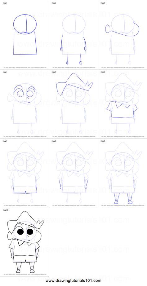 tutorial alis shinchan how to draw kazama from shin chan printable step by step