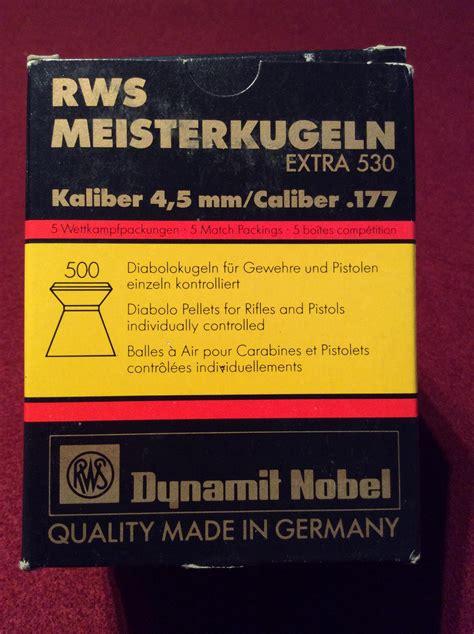Mimis Rws Meisterkugeln Pellet Cal 177 4 5mm Germany rws meisterkugeln 177 competition pellets box of 500