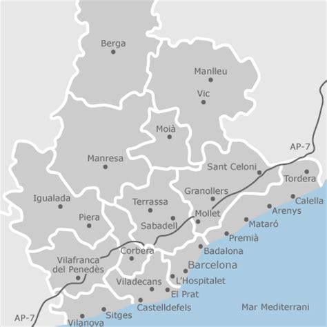mapa de barcelona provincia idealista