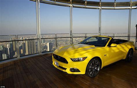 Car Sales Executive Dubai Ford Show Their New Mustang On Burj Khalifa S 112th