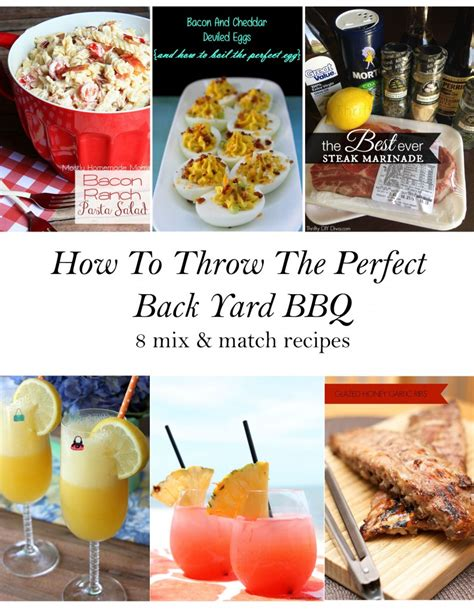 how to throw the backyard bbq 8 mix match