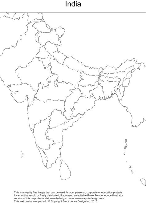blank outline maps education place royalty free printable blank india map with
