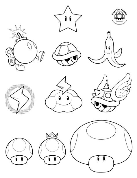 mario kart wii colouring pages