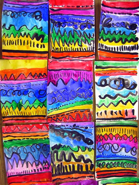 pattern artwork for kindergarten cassie stephens in the art room a unit on line for