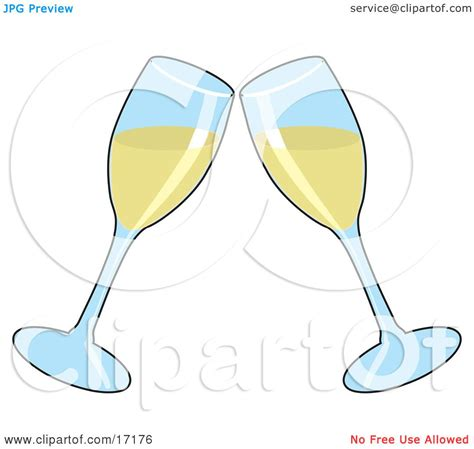 Wedding Glasses Clipart by Happy Anniversary Wine Clipart
