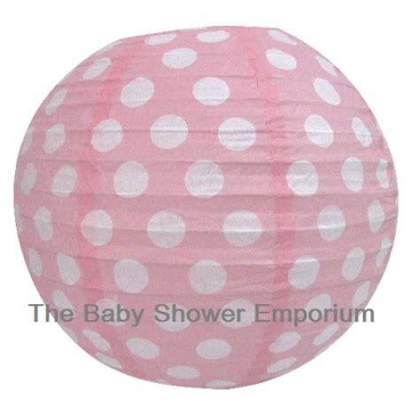 the baby shower emporium 30cm pink polka dot lantern