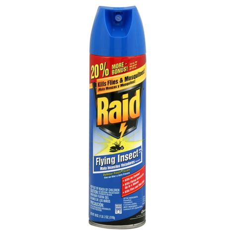 raid bed bug spray raid flying insect killer formula 6 outdoor fresh scent