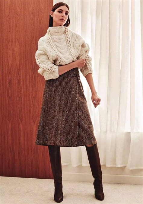 style inspiration midi skirts knee boots for autumn