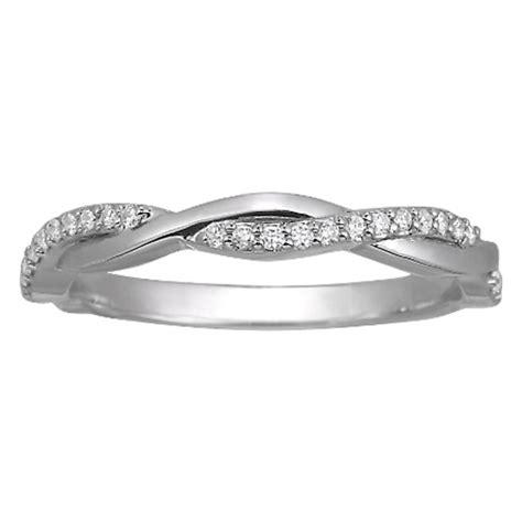 Wedding Band   Infinity Diamond Wedding Band 0.15 tcw. In
