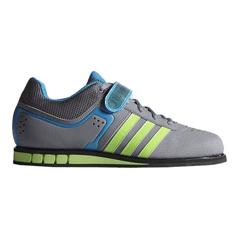 adidas s powerlift 2 0 weightlifting shoes grey lime