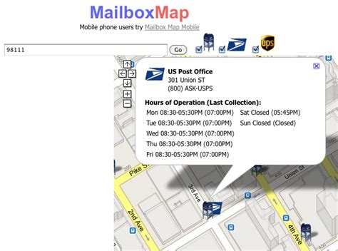 Address Finder Post Office Find A Mailbox Post Office Or Ups Location With