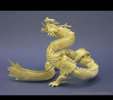 Satoshi Kamiya Origami - intricate paper dragons satoshi kamiya makes detailed