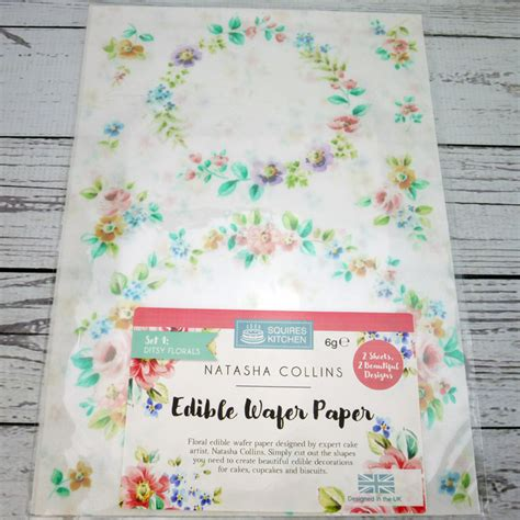 ditsy florals edible wafer paper by collins