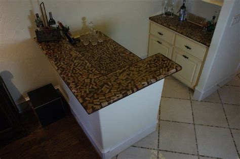 wine cork bar top residential wine cork bar traditional family room dallas by