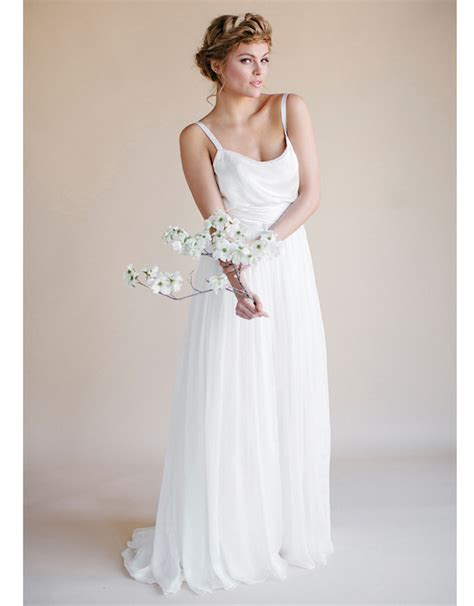 size long robe mariage  simple summer bohemian
