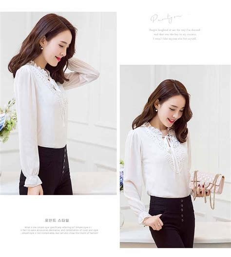 Coat Putih Cina Modis 2016 blouse putih modis terbaru 2016 model terbaru jual murah import kerja