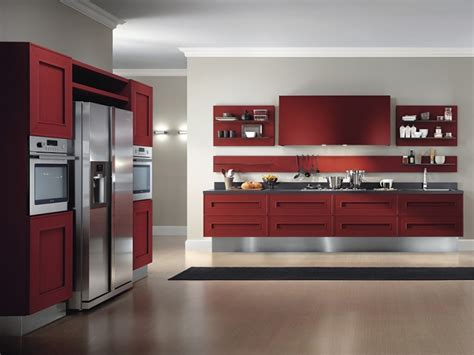 red painted kitchen cabinets red painted kitchen cabinets by composit italy kitchen
