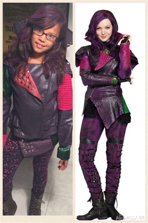 diy mal costume descendants disney mal leather jacket