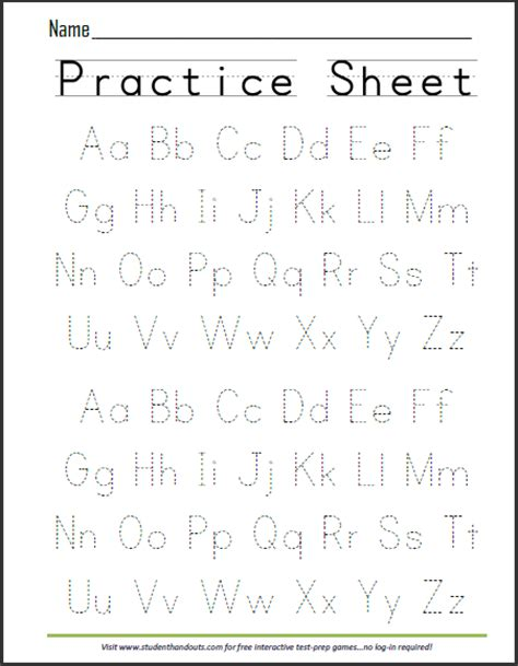print abcs practice worksheet