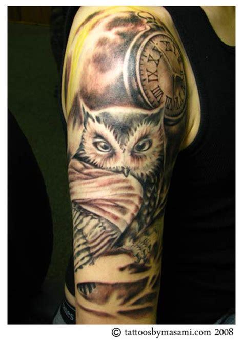 tattoo arm owl brainsy heart upper arm owl tattoo
