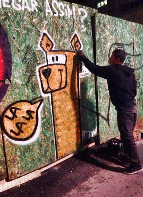 lalala dog grafite em homenagem  cachorra portal  dog