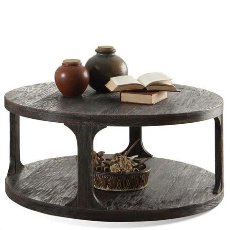 riverside furniture bellagio round coffee table in worn
