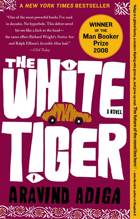 The White A Novel the white tiger book by aravind adiga official