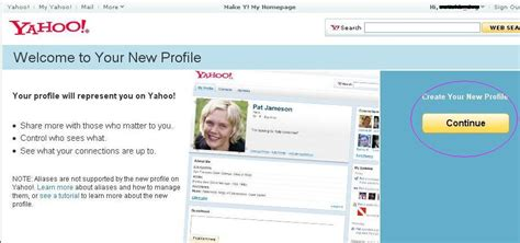 Yahoo Email Profile Search Create Your New Yahoo Profile