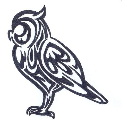 owl tribal tattoo designs tribal owl designs clipart best