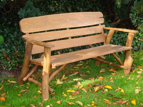 rustic garden bench memorial benches rustic oak bench 1700