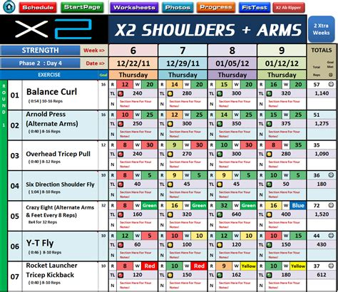p90x2 base and back worksheet excel spreadsheet workout nutrition managers for p90x2