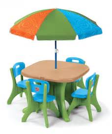 step2 table and chairs with umbrella home interior amp furniture
