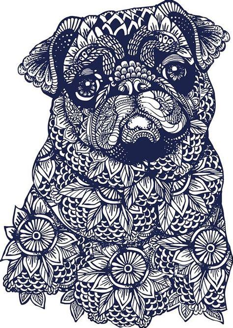 mandala  pug  huebucket dibujos de pugs dibujos de