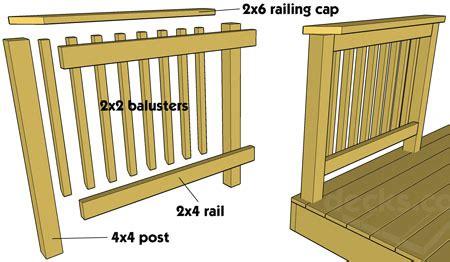 woodwork build wood railing  plans