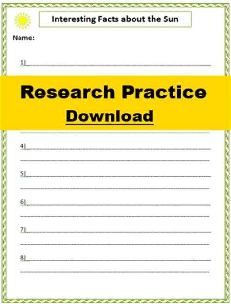 3rd grade research paper template research paper template for 3rd grade second grade