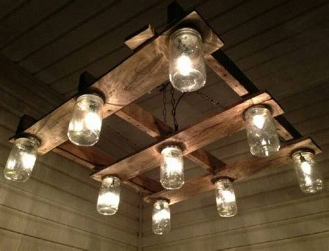 Chandeliers Made Out Of Pallets Pallet Wood Projects Pallet Light Fixture