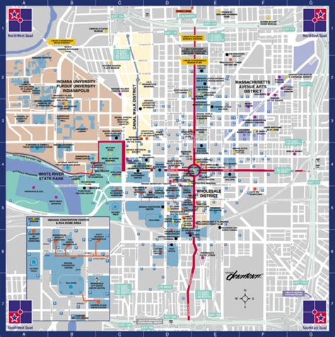 indianapolis usa map downtown indianapolis map downtown indianapolis in usa