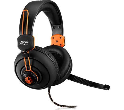 Headset Gaming H300 Black buy afx firestorm h01 gaming headset black orange free delivery currys
