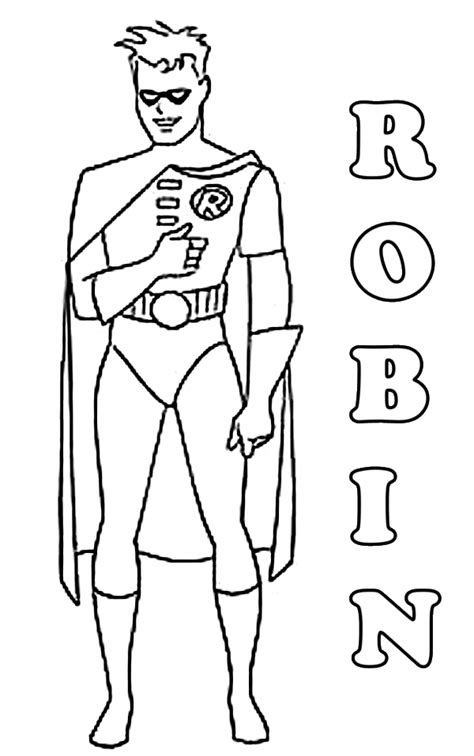 printable coloring pages robin batman coloring pages on coloringpagesabc