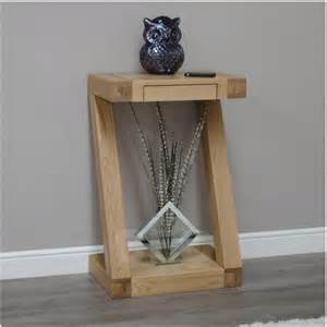 Small Table For Hallway Zouk Solid Oak Designer Furniture Small Console Hallway Table Ebay
