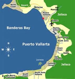 banderas map vallarta map vacation in vallarta