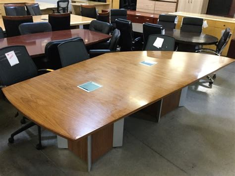 Used Conference Table by Used 9 Asymmetrical Conference Table Oak Veneer Arizona