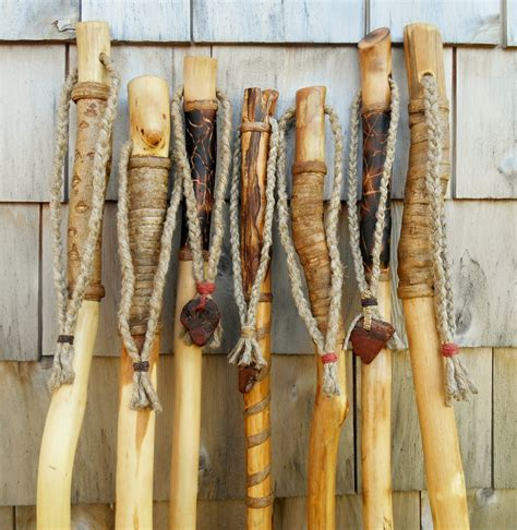 Handmade Walking Sticks For Sale - walking stick maine made wood hiking staff with handmade burl